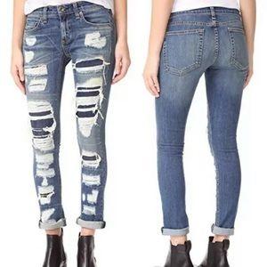Rag & bone JEAN DRE Distressed skinny jeans 30